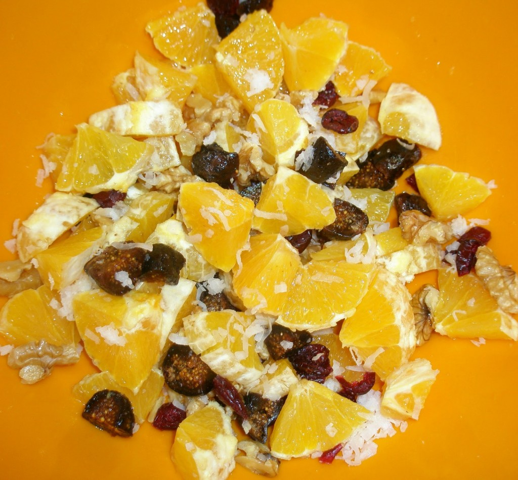 Orange & Fig Salad With Walnuts & Dried Cherries