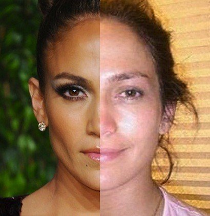11-celebrities-with-and-without-makeup_jennifer-lopez