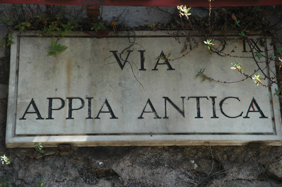 FCO Rome - Via Appia Antica sign with road name 3008x2000 (1)