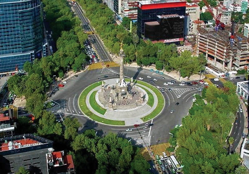 Mexico City, Paseo de la Reforma, The Angel - Photo by SECTUR