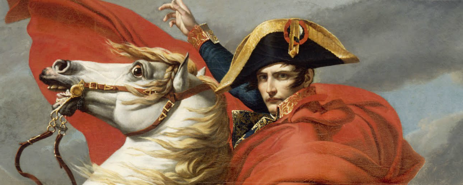 detail Bonaparte Crossing the Grand Saint-Bernard Pass by Jacques Louis David