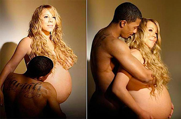mariah-carey-naked-pregnant-belly-twins-nick-cannon-gives-birth-ok-magazine-cover-boy-girl-fat-tattoo