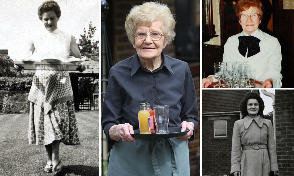 Oldest bar maid working at 100