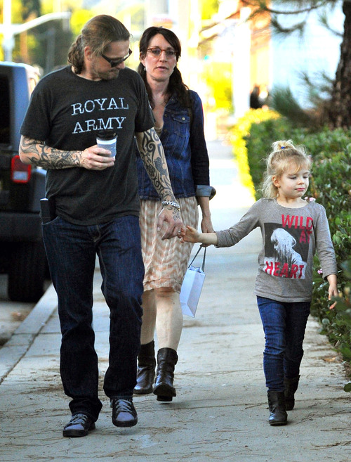 Katey Sagal And Family Out For Lunch In Brentwood