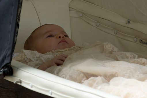 Princess-Charlotte-in-her-pram-arriving-at-the-Church-of-St-Mary-Magdalene