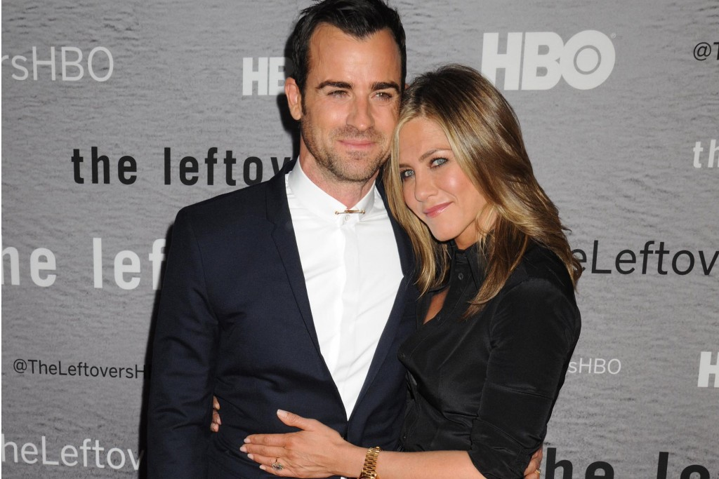 """Justin Theroux and Jennifer Aniston at HBO premiere of """"THE LEFTOVERS"""" in NYC"""