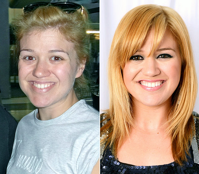Kelly-Clarkson-Without-Makeup-Before-and-After