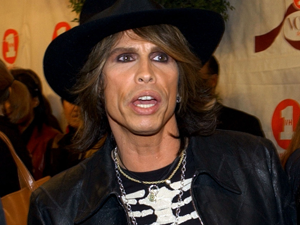 Aerosmith singer Steven Tyler arrives at the 2002