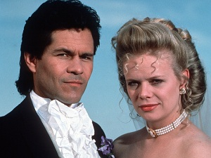 "Santa Barbara"" (NBC) 1984-1993 Shown from left: A Martinez, Marcy Walker"